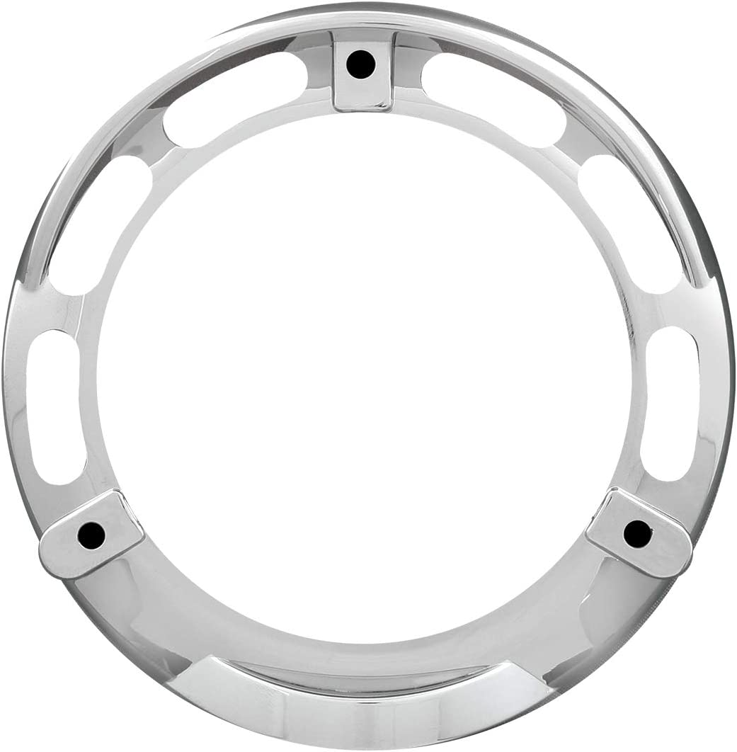 1 Pack Grand General 68217 Clear Plastic Rim with Visor for 4 Inch 3 Screws Turn Light