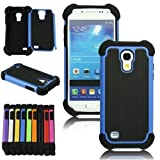XYUN For Samsung Galaxy S4 S IV Mini i9190 i9192 New Shockproof Hybrid Heavy Duty Impact Rugged Case Combo Skin Cover (blue)