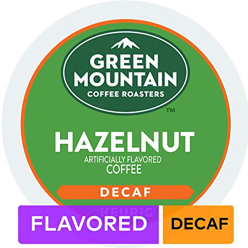 Green Mountain Coffee Hazelnut, Single Serve Coffee K-Cup Pods for Keurig Brewers, Decaf, 96 Count