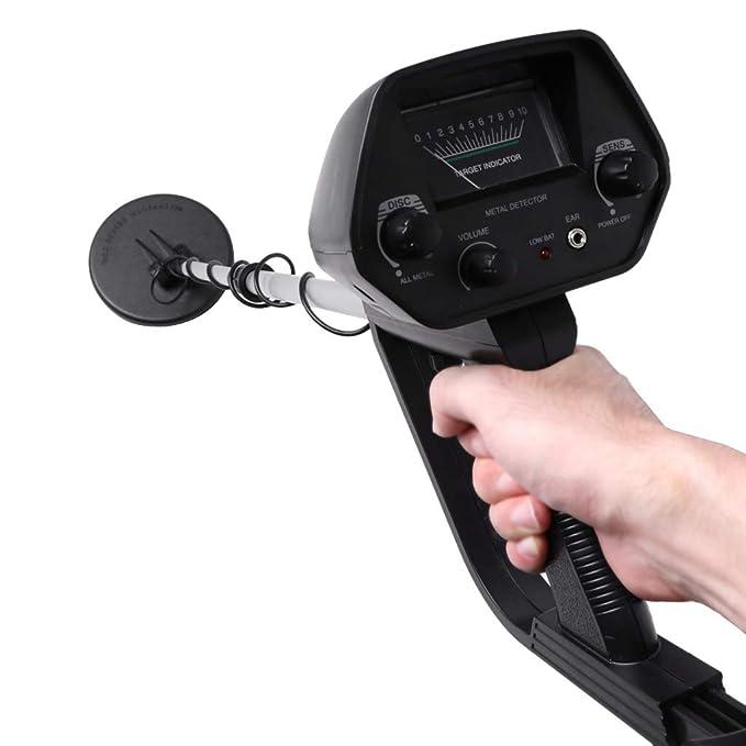 Tiyee MD-4030 Detector de metales de mano ligero, profundidad ajustable de sensibilidad y volumen dorado, indicador de detección de audio LCD, ...