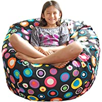 Ahh! Products Bubbly Jelly Bean Cotton Washable Large Bean Bag Chair