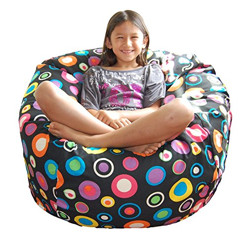 Ahh! Products Bubbly Jelly Bean Cotton Washable Large Bean Bag Chair by Ahh! Products