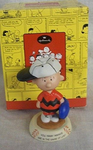 Hallmark Peanuts Gallery Seventh Inning Stretch Figurine QPC4009 Charlie Brown Baseball