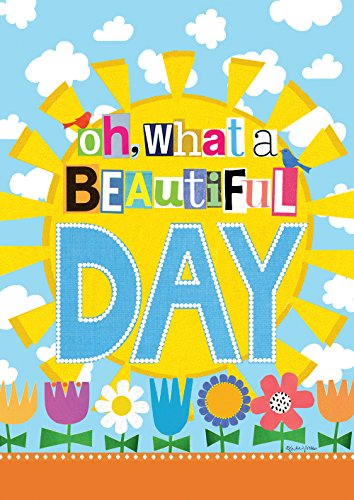 (Toland Home Garden What A Beautiful Day 12.5 x 18 Inch Decorative Spring Summer Sun Flower Garden Flag)