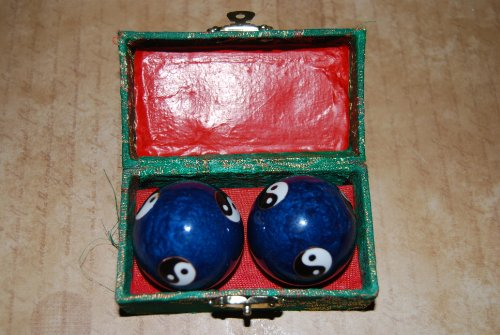 Chinese Iron Ball - Chinese Traditional Cloisonne Iron Ball for Health (One Set Containing 2 Balls We Pick up the Color and the Designs of the Balls for You) - 2 Cloisonne Health Balls