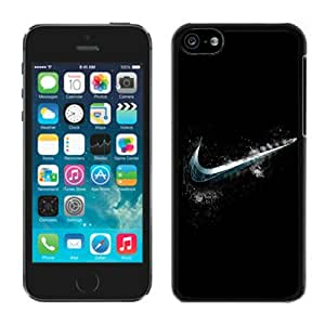 Beautiful Designed Case With Cold Nike Logo Black For iPhone 5C Phone Case