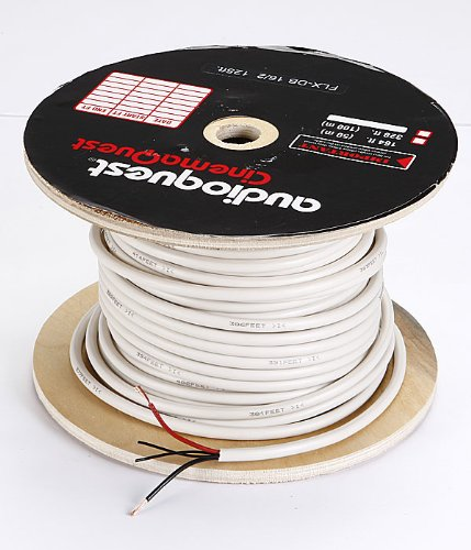 AudioQuest 125' In-Wall Speaker Cable - Off-White