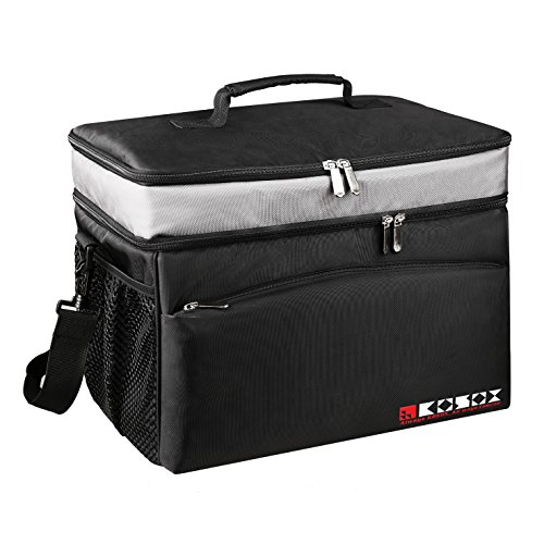KOSOX 30-Can Collapsible Cooler Bag, Large Capacity, Multi Pockets, Thermal Insulated Waterproof Soft Cooler, for Outdoor Picnic Camping Fishing Travel etc. (Camo Soft Ice Chest compare prices)