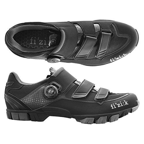 (fizik/フィジーク)(自転車用シューズ/靴用品)M6B UOMO(メンズ)BOA MTBシューズ BK/グレー 42.5   B01EVESPGG