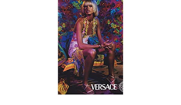 Print Ad For 2004 Versace Clothing With Model Rianne Ten Haken At