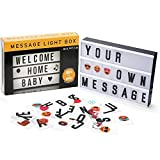Lightbox, comprafun LED Light Box Film A4Warm Light Creative with Letters Numbers Symbols Emojis Combination FREE FOR THE WEDDING HOME Photoshoots Birthday Party.