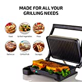 Ovente Electric Panini Press Sandwich Maker Grill
