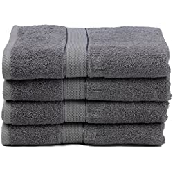 "Ariv Collection Premium Bamboo Cotton Bath Towels - Natural, Ultra Absorbent and Eco-Friendly 30"" X 52"" (Grey)"