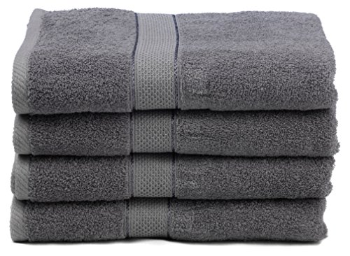 premium bamboo cotton bath towels natural ultra absorbent and eco friendly 30 x 52 grey. Black Bedroom Furniture Sets. Home Design Ideas