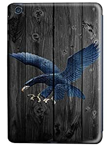 iPad Mini Case,Wood stripe Series Customize Ultra Slim Wood Custom Bird Hard Plastic PC 3D Print Case Bumper Cover for iPad Mini