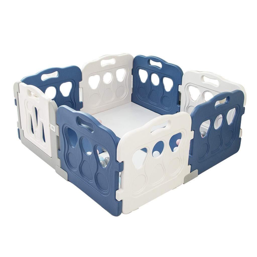 A Großer Baby-Laufstall Mit 8 Paneelen - Kindersicherheitszentrum - Raumteiler Und Kindersperre - Sicherheitsspielplatz - 113x113x60cm (Farbe   A)