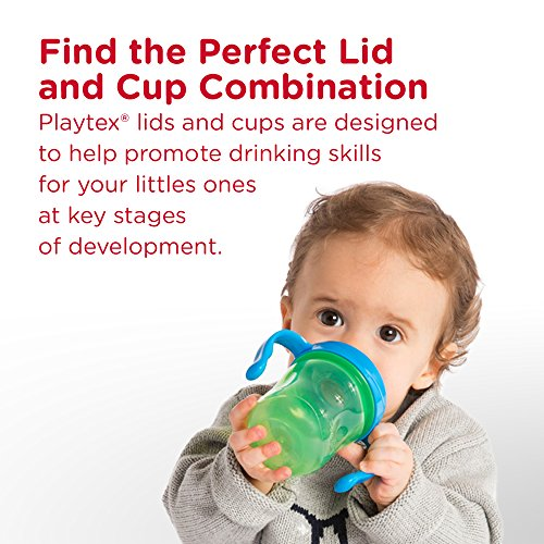 Playtex Sipsters Stage 3 Milk and Water Spill-Proof, Leak-Proof, Break-Proof Insulated Toddler Straw Sippy Cup Set, 9 Ounce - 2 Count by Playtex (Image #1)