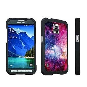 DuroCase ? Samsung Galaxy S5 Active SM-G870A Stylish Hard Case Black - (Unicorn Galaxy)