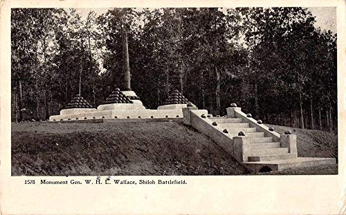 Wallace Monument - Shiloh Battlefield Tennessee General Wallace Monument Antique Postcard J79743