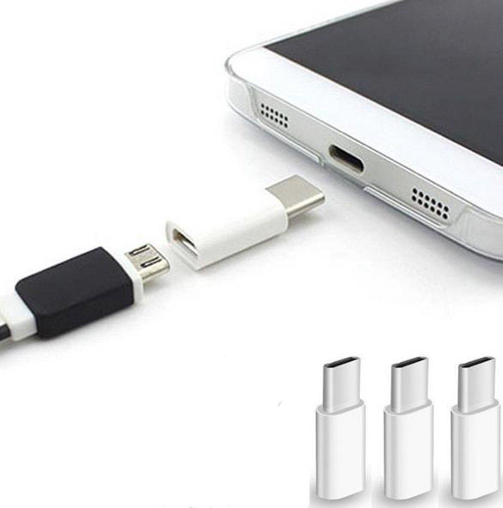 ArgoBa Universal USB 3.1 Tipo-C Conector a Micro USB Macho a Hembra Convertidor Mini Port/átil USB-C Adaptador de Datos Tipo C Dispositivo