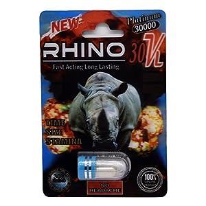 Rhino 30K Platinum Fast Acting Long Lasting Male Enhancement Pill (5 Pack)
