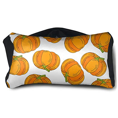 Portable Eye Pillow Sleep Eye Mask Pillow Halloween Pattern Pumpkin Icon Pillow Masks for Home Office Outdoor Travel 15 X25 cm