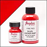 Angelus Acrylic Leather Paint-4 oz.- Fire Red