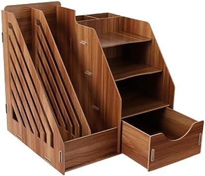Mr Zhang Bookshelf File Rack Multi-Layer Storage Box Data Frame Office Supplies Desktop Decorative Storage Rack