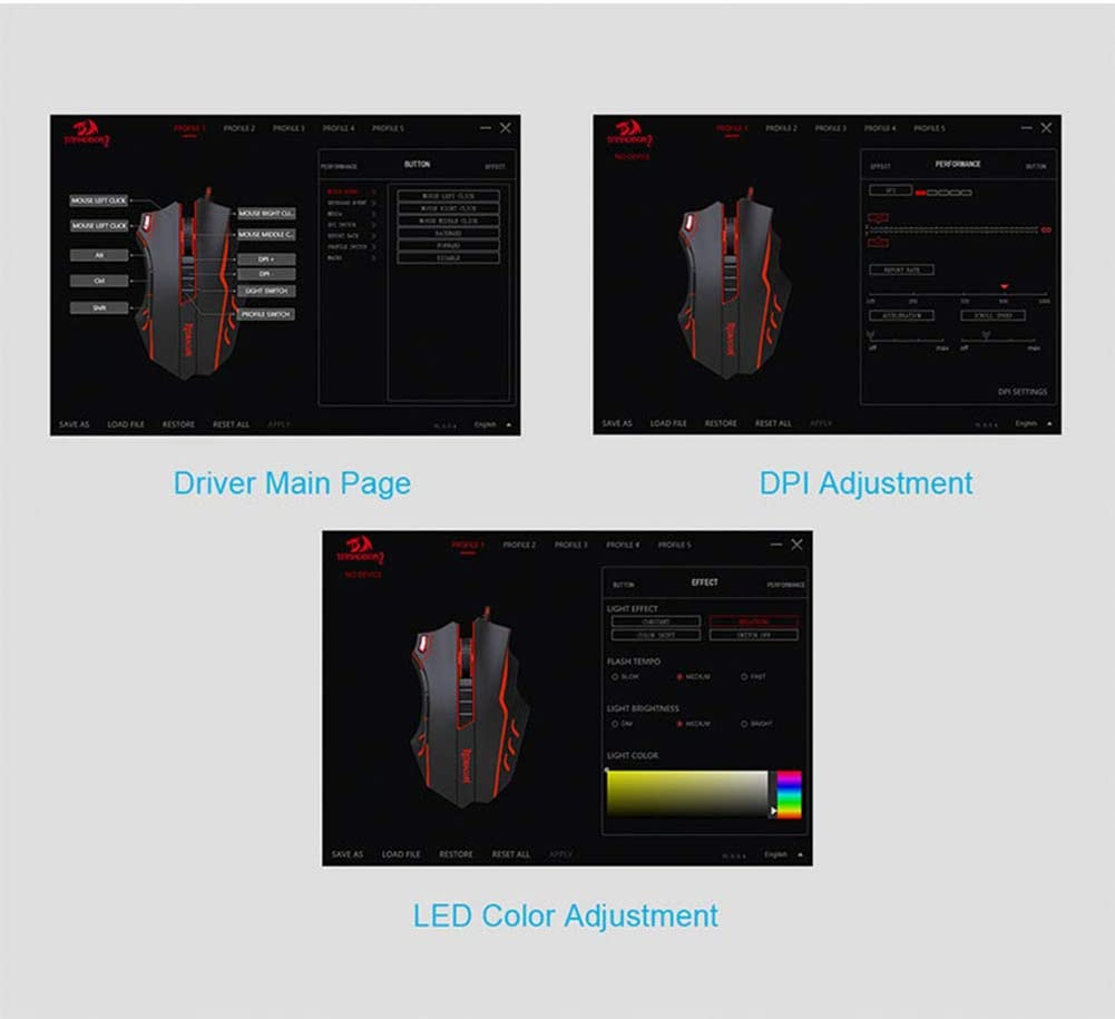 EASON Gaming Mouse Mouse Gaming Aggravated Macro Programming Mouse E-Sports Competition