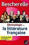 Bescherelle Chronologie de la littérature française : du Moyen Âge à nos jours (Chronologies) par Couprie