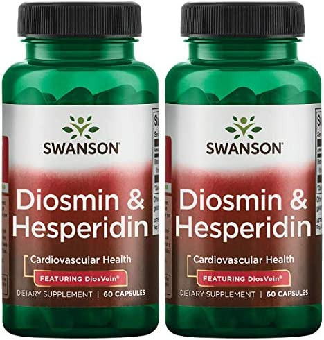 Swanson Diosmin Hesperidin – Featuring Diosvein 60 Caps 2 Pack