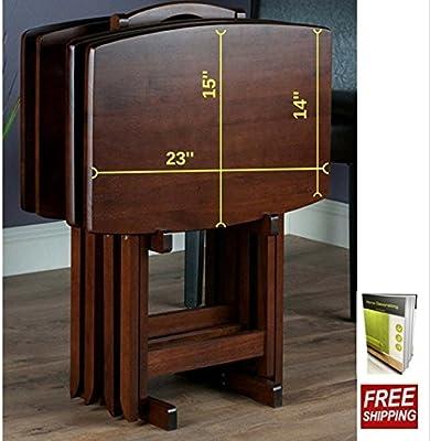 Amazon.com: Mesa plegable Set para 4 con Esquinas ...