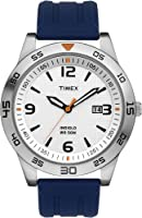 Timex Men's T2N696 Elevated Classics Dress Sport Collection Blue Resin Strap Watch from Timex