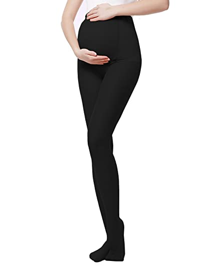 194468aa64aa5 Image Unavailable. Image not available for. Color: L&ZZ Opaque Maternity  Tights ...