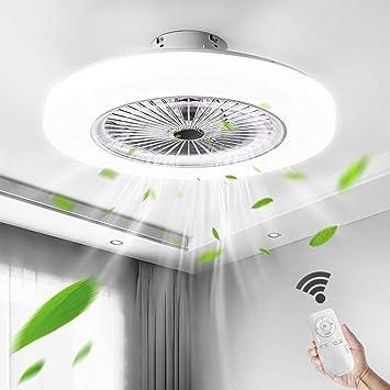 Aohuada Led Fan Light Ceiling Fan Bedroom Ceiling Light Remote Control 36 W Ceiling Light Dimmable 58 Cm Fan Quiet 2880 Lumen Modern With Smart Invisible Amazon De Lighting