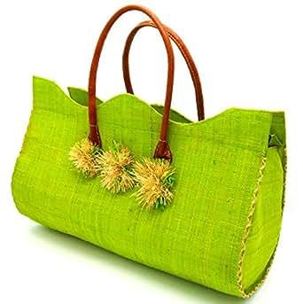 Baby Green Handcrafted 100 Percent Natural Raffia Beach Bag