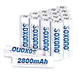 AA Batteries Rechargeable,Sonoxo AA Batteries High Capacity 2800mAh 1.2V Ni-MH AA Battery Low Self Discharge 16 Pack