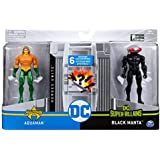 Spin Master DC Heroes Unite 2020 Aquaman VS Black Manta 4-inch Action Figure with 6 Mystery Accessories. (1st Edition)