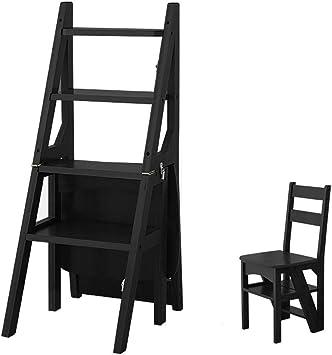 YZQ Escalera Plegable Inicio Heces,Paso Escalera Plegable Silla Alta Escalera Escalera de Bambú de Doble Uso Subir 4-Escalera Plegable Ensanchamiento de Seguridad Portátil Flor Banco Zapatero de Alma: Amazon.es: Bricolaje y herramientas