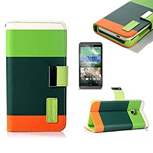 Joma Wallet PU Leather Case Card Holder Flip Case Cover for HTC ONE M7 (dark green)