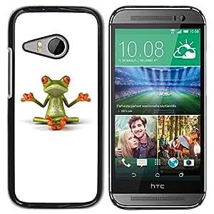 Design for Girls Plastic Cover Case FOR HTC ONE MINI 2 / M8 MINI Yogi Yoga Meditating Frog Minimalist OBBA