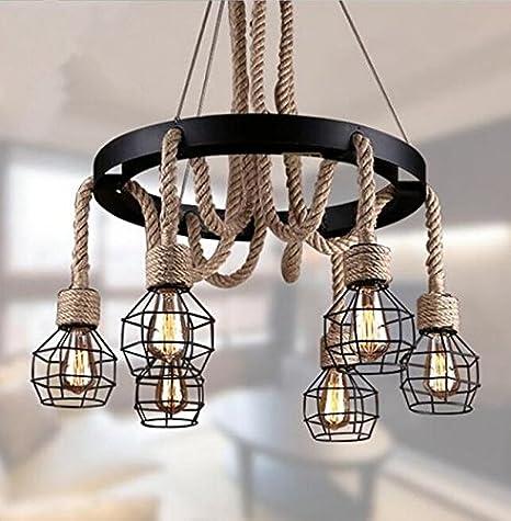 Las lámparas colgantes Vintage soga Edison lámpara Lámpara ...