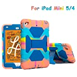 iPad Mini 5 Case 2019 7.9' for Kids ACEGUARDER Full Body Protective Silicone Cover with Adjustable Kickstand for Apple iPad Mini 4 Mini 5 Case(Ice/Blue)
