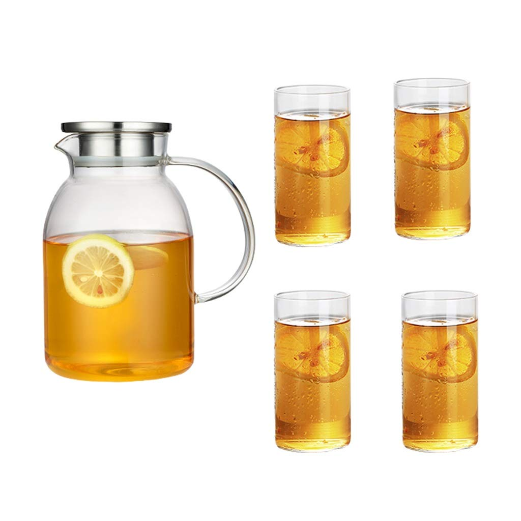 CSQ Coffee Cup Set, Glass Clubhouse teapot bar Restaurant teapot Afternoon Tea Tea Set Capacity: 1800ml Afternoon Tea (Color : C)