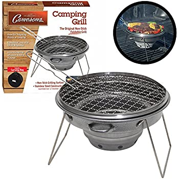 "Tailgater Grill - Portable Camping or Tailgating Grill with 12"" Non Stick Stainless Grill Surface and Carry Bag"