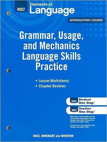 Elements of Language: Grammar Usage and Mechanics Language Skills ...