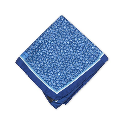 Robert Talbott Navy And Blue Fancy Silk Pocket Square (Squares Robert Talbott Pocket)