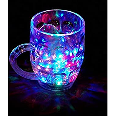 Spanking Plastic Cup With LED Light - 1 Piece, Multicolour, 250 ml 9