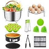 Instant Pot Accessories, Instapot Accessories Fits 6, 8 Qt Instant Pot - Steamer Basket, Egg Rack, Non-stick Spring form Pan, Egg Bites Mold - Pressure Cooker Accessories Fits 5 6 8 Qt