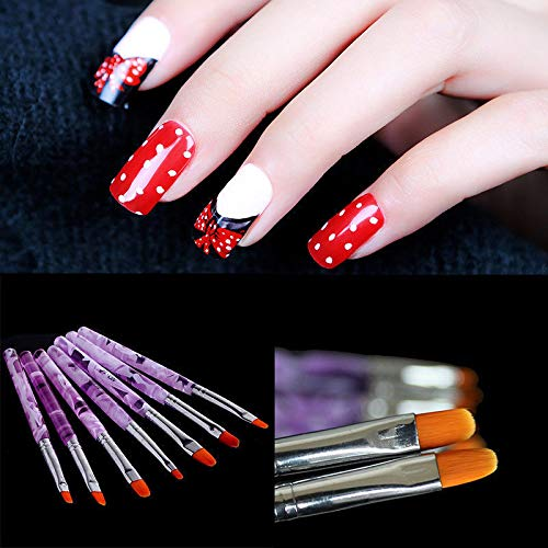 Brush Polish Painting Crystal Pen For Manicure Tool DIY Set ()